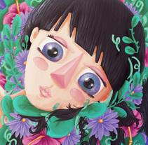 Ilustraciones mujeres florales. A Illustration, and Painting project by Carolina Zavala         - 02.03.2018