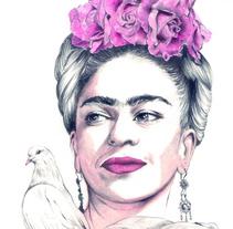 FRIDA. Um projeto de Ilustração e Artes plásticas de Crisbel Robles         - 08.11.2015