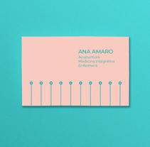 Acupuntura. Tarjeta de visita para Ana Amaro. Um projeto de Br e ing e Identidade de Diana Creativa         - 19.03.2018