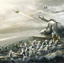 Star Wars Battle front concept art. Un proyecto de Ilustración, Fotografía, Cine, vídeo, televisión, Arquitectura, Bellas Artes y Diseño de juegos de Gabriel Navarro Romero         - 05.04.2018