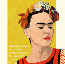 Frida Kahlo. A Illustration project by Olga Fernández Pero         - 10.04.2018