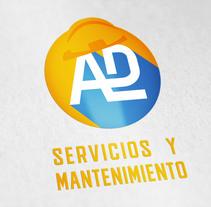 Propuesta Flat Logo ADL (monograma). A Graphic Design project by Ricard Colom Romero         - 17.04.2018